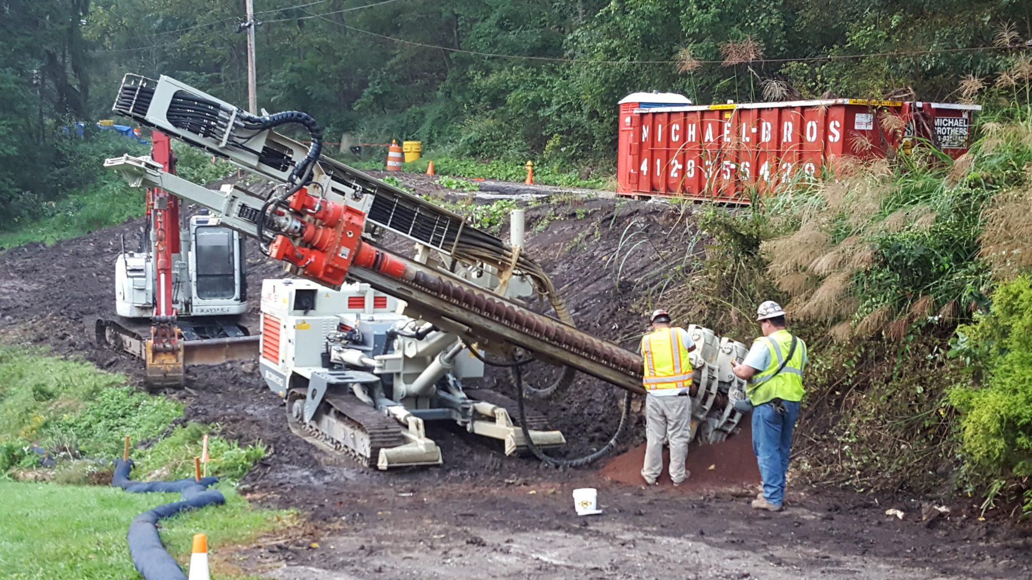 Dawood Works on Landslide Repair in the Borough of Baldwin