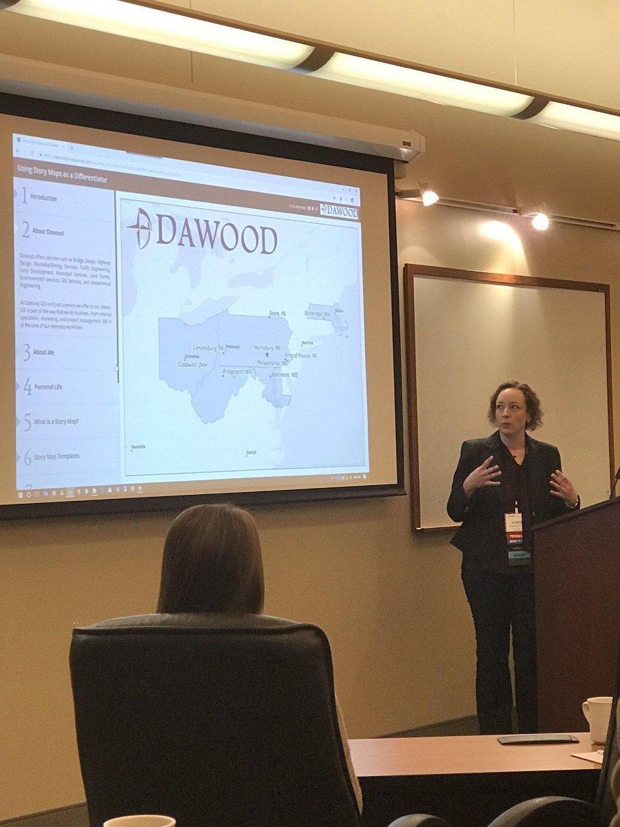 Dawood's GIS Manager, Jodie Gosselin presents at NEURISA's GIS Day Conference